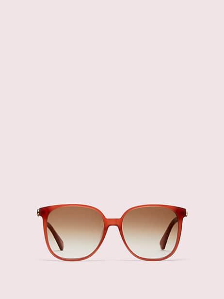 alianna sunglasses, salmon, large by kate spade new york