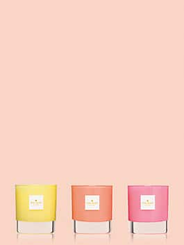 live colorfully candle trio, pink multi, medium