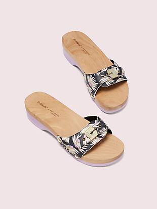 dr. scholl's x kate spade new york falling flower slide sandal by kate spade new york hover view