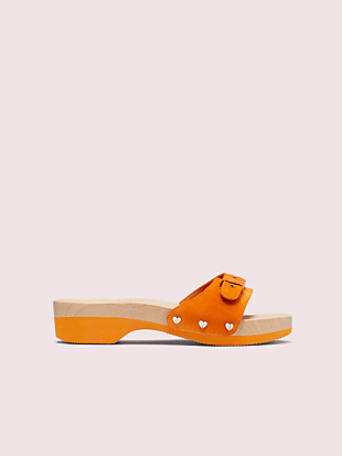 dr. scholl's x kate spade new york suede slide sandal by kate spade new york non-hover view
