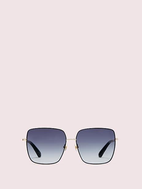 fenton sunglasses, black, large by kate spade new york