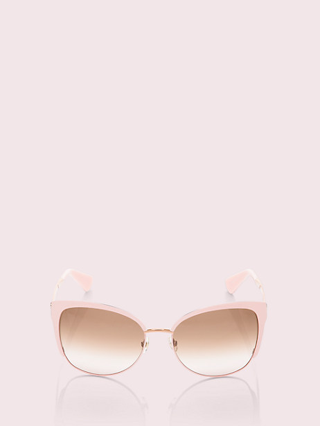 genice sunglasses, pink/gold, large by kate spade new york