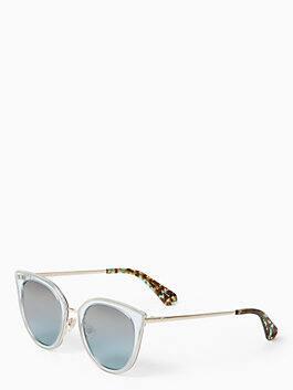 jazzlyn sunglasses, havana gold, medium