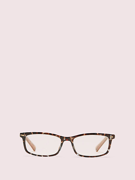 jodie readers with blue-light filters, havana/glitter, large by kate spade new york