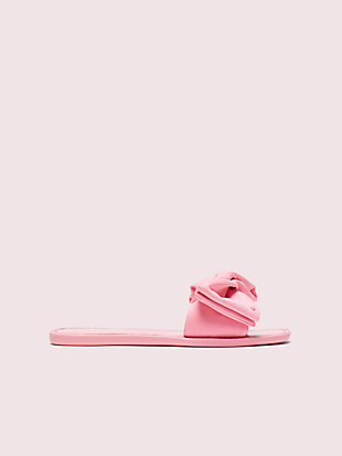 bikini bow slide sandals by kate spade new york hover view
