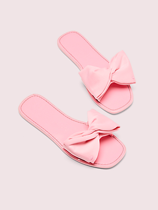 bikini bow slide sandals by kate spade new york non-hover view