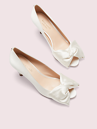 crawford peep-toe pumps by kate spade new york hover view