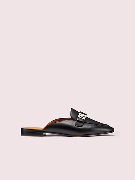 catroux slide loafers, black, large by kate spade new york