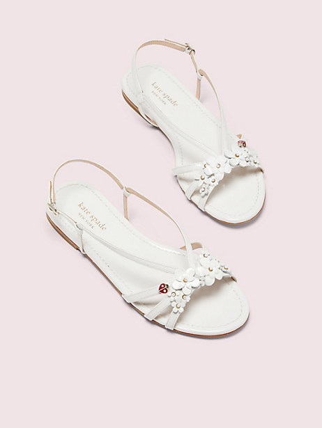 magnolia sandals, optic white, large by kate spade new york