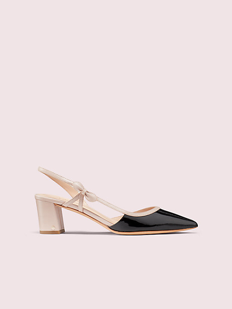 midge bow pumps, black, large by kate spade new york