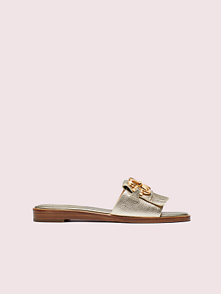 positano spade chain slide sandals by kate spade new york hover view