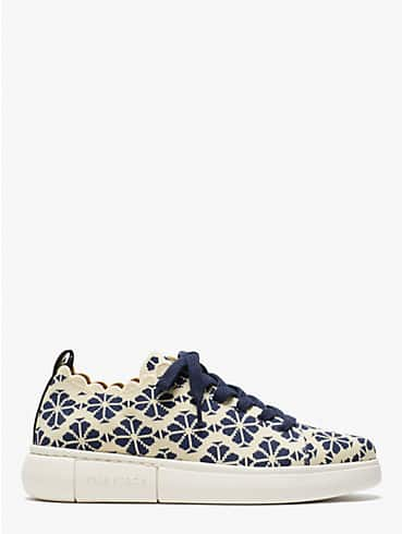 spade flower jacquard lift knit geo sneakers, , rr_productgrid