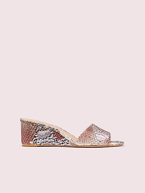 willow wedges, pink, large by kate spade new york