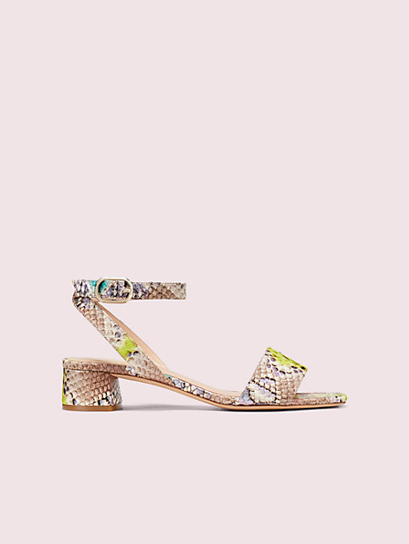 lucia sandals, lemon sorbet, large by kate spade new york