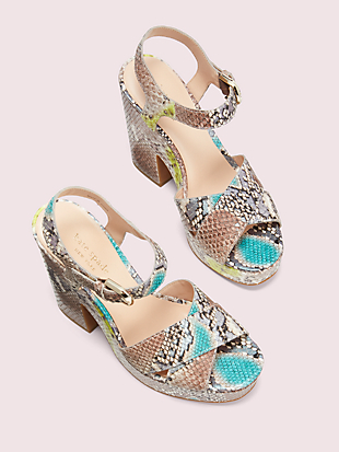 grace platform sandals by kate spade new york hover view