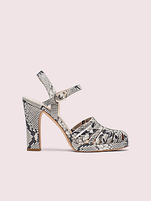 campania snake-embossed platform sandals by kate spade new york non-hover view