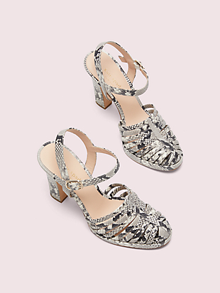 campania snake-embossed platform sandals by kate spade new york hover view