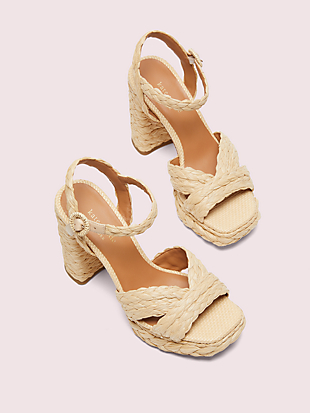 disco raffia platform sandals by kate spade new york hover view