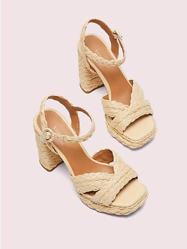 Disco Sandalen mit Plateausohle aus Bast, , rr_productgrid