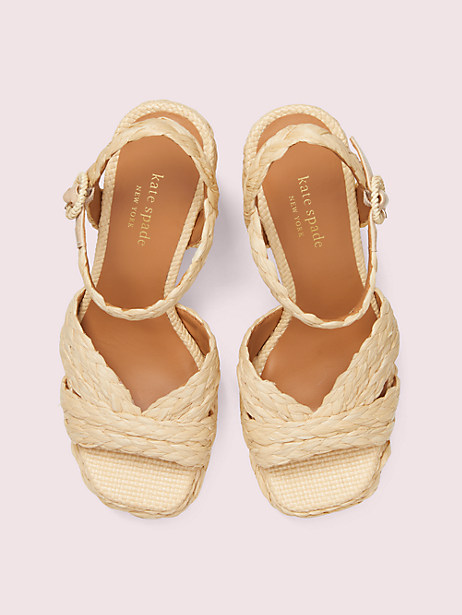 Disco raffia platform sandals | Kate Spade New York