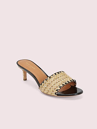 seberg raffia slide sandals by kate spade new york non-hover view