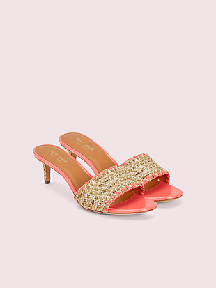 seberg raffia slide sandals by kate spade new york hover view