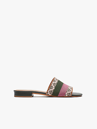 spade flower jacquard boardwalk slide sandals by kate spade new york non-hover view