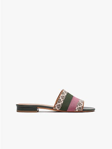 boardwalk spade flower jacquard slide sandals, , rr_productgrid