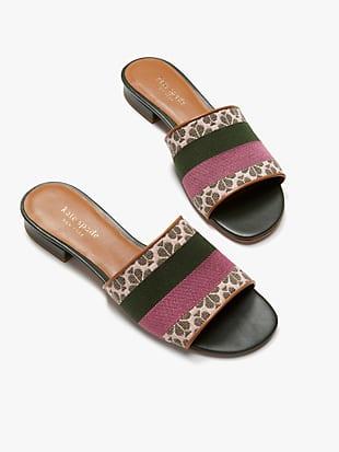 spade flower jacquard boardwalk slide sandals by kate spade new york hover view