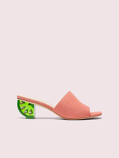 citrus slide sandals, vibrant coral, large by kate spade new york