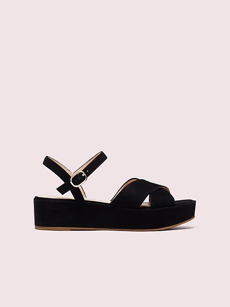 Bunton suede flatform sandals   Kate Spade New York