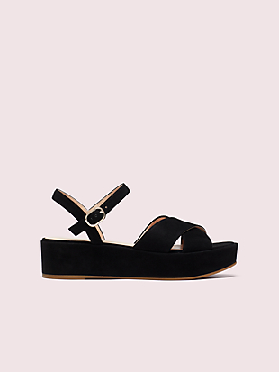 bunton suede flatform sandals by kate spade new york non-hover view