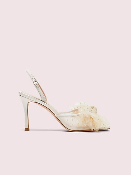 bridal sparkle heels , parchment, large by kate spade new york