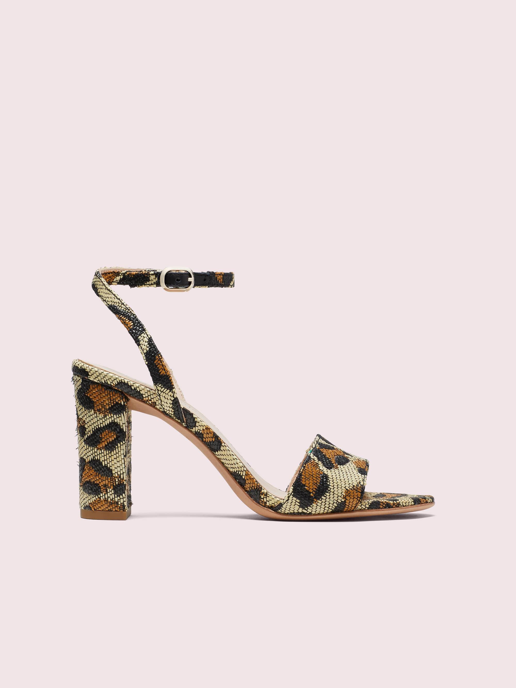 Kate spade odele leopard raffia sandals