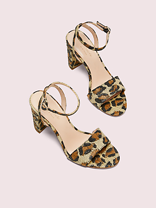 odele leopard raffia sandals by kate spade new york hover view