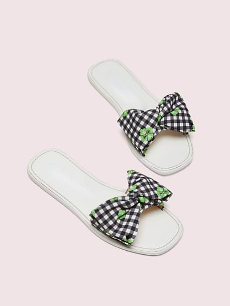 bikini bow slide sandals by kate spade new york