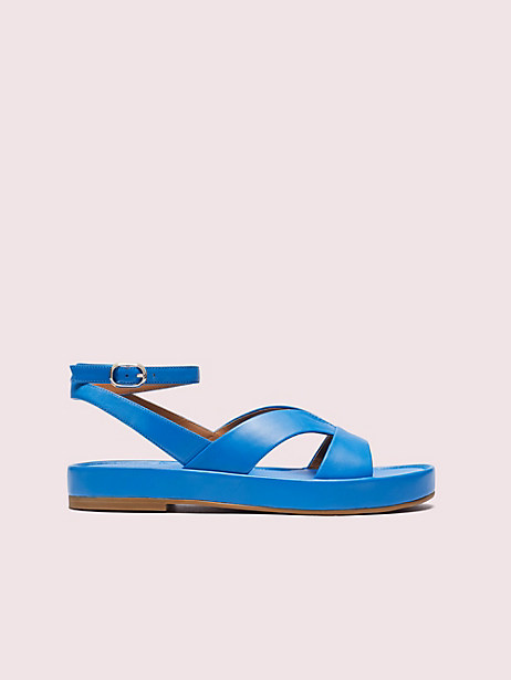 marshmallow flatform sandals, bright sapphire, large by kate spade new york