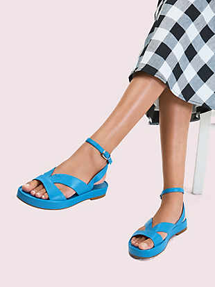 marshmallow flatform sandals by kate spade new york hover view