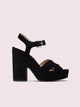 grace suede platform sandals by kate spade new york non-hover view