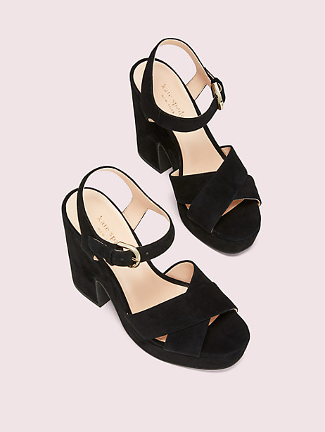Grace suede platform sandals | Kate Spade New York