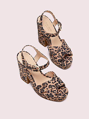 grace leopard platform sandals by kate spade new york hover view