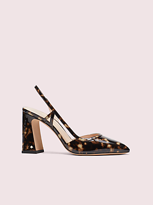 adelaide tortoiseshell slingback heels by kate spade new york non-hover view