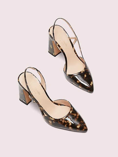 adelaide tortoiseshell slingback heels, light tan, large by kate spade new york