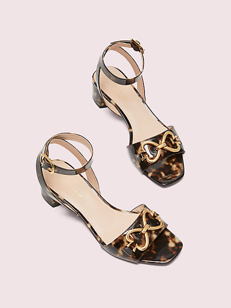 lagoon spade chain sandals, light tan, large by kate spade new york