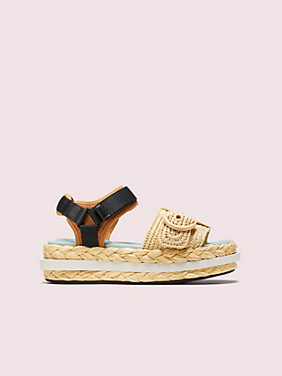 acapulco raffia flatform sandals by kate spade new york non-hover view