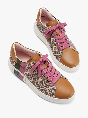 spade flower jacquard keswick sneakers by kate spade new york hover view