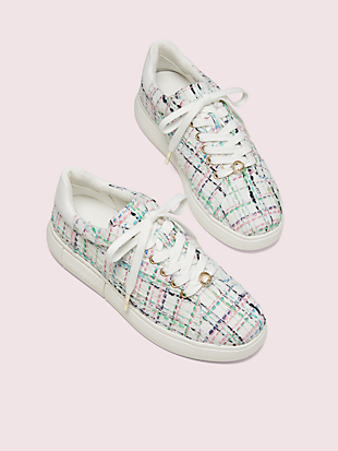 lift plaid tweed sneakers by kate spade new york hover view