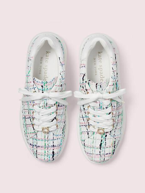 Lift plaid tweed sneakers   Kate Spade New York