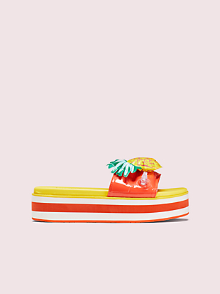 platform slide sandals by kate spade new york hover view