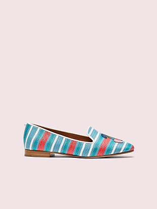 lounge cherries striped raffia loafers by kate spade new york hover view